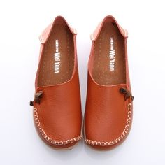 BN Womens Leather Comfort Casual Walking Bowed Flat Shoes Loafers Moccasin Slide | eBay