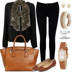 Andrea Moda y Asesoría: C3 Blusa Negra Pantalón Negro AW15-16