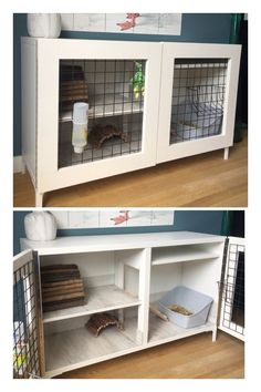 Trendy Ideas for pet rabbit cage diy guinea pigs Indoor Guinea Pig Cage, Indoor Rabbit House, Rabbit Hutch Indoor, Indoor Rabbit Cage, Guinea Pig Cages, Diy Bunny Hutch, Diy Bunny Cage, Bunny Cages, Rabbit Cages