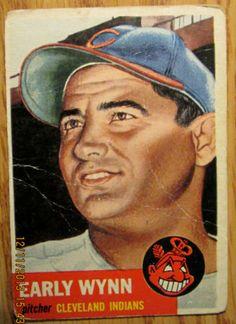 1953 Topps Early Wynn 61 | eBay #sportsmemorabilia #worldserieschampions #majorleaguebaseball #baseballcards