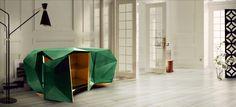 DIAMOND EMERALD SIDEBOARD #bocadolobo #sideboard #interiordesign #furniture #portugalfurniture