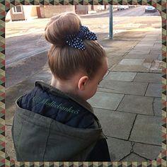 Cute bun with bow