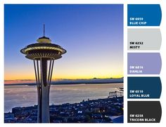 Seattle Blues - paint colors from Chip It! by Sherwin-Williams