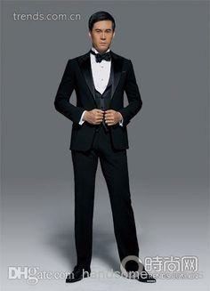 Wholesale Wedding Invitations - Buy 2014 New Wedding Dress And Groom Groomsman Groomsmen Suits / Men's Suits Groom Jacket + Pants + Tie + Vest DH506, $85.38   DHgate