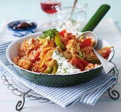 Tomatenreis zu Feta und Dip