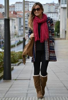 Outfit con bufanda