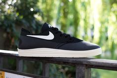 separation shoes d54c9 dc355 Image of Nike SB Lunar One Shot Black Off-White Retro Sneakers, Classic
