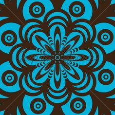 Blue And Brown Abstract Seamless Wallpaper Design