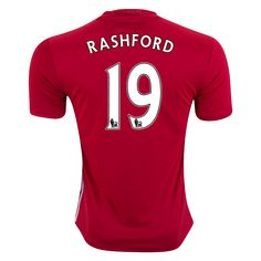 Manchester United 16/17 Marcus Rashford Home Soccer Jersey - Check out the latest British Premier League Soccer Jerseys and your favourite clubs apparel for 2016/17 at WorldSoccershop.com