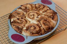 Maple Pecan Cinnamon Rolls [Printable Recipe] Makes 8  Ingredients  FOR THE FILLING 3/4 cup (191 grams) brown sugar, packed 1/4 cup (...