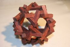 Wooden Puzzle Sculpture Dodecahedronal Puzzle by TexasWoodChuck