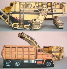 Simple Caterpillar PR750B and Dodge CT800 Free Vehicle Paper Models Download - http://www.papercraftsquare.com/simple-caterpillar-pr750b-and-dodge-ct800-free-vehicle-paper-models-download.html#1100, #Cat, #CaterpillarPR750B, #Dodge, #DodgeCT800, #VehiclePaperModel