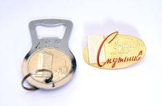 Soviet vintage set bootle opener and hotel budge от zemfiradesign