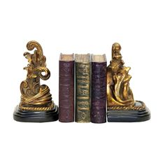 Pair Tuscan Scroll Bookends 91-1458