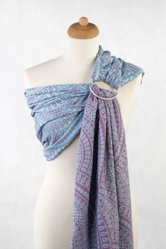 Lenny Lamb Peacock's Tail (cotton) Ring Sling