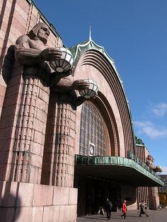 Pictures of your cities main stations Please show pictures of your cities main train stations here. Here is Glasgow's biggest station called Glasgow. Art Nouveau, Art Deco, Unique Architecture, Historical Architecture, Eero Saarinen, Finland Culture, Building Images, Famous Architects, Closer To Nature