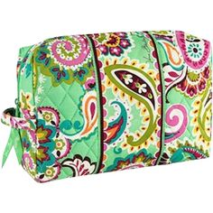 Pre-owned Vera Bradley Large Cosmetic Nwt Tutti Frutti ($30) ❤ liked on Polyvore featuring beauty products, beauty accessories, bags & cases, vera bradley makeup bag, make up bag, wash bag, makeup purse and cosmetic bags & cases