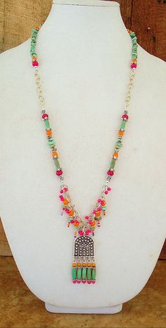 Bohemian Necklace Boho Colorful Necklace Hippie by BohoStyleMe