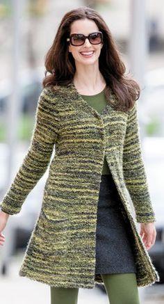 Bio Mode - Jacke Bouclé Merino mit Shirt in Organic Cotton und Modal Edelweiss mit Minirock aus Double Face in Schurwolle - Bio Baumwolle, Größen S bis XL - Finesse Fashion ©