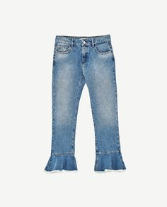 MID-RISE JEANS WITH FRILL from Zara - now $40
