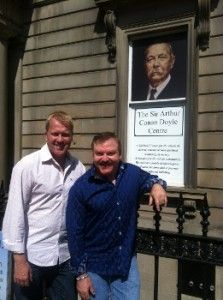 James Van Praagh (next to friend)...and Tony Stockwell.