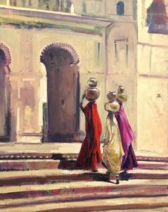 the threshold - Indian art paintings