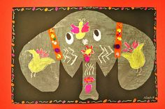 Festive elephant by paintedpaper, via Flickr