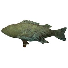 Beautiful Fish Weathervane | From a unique collection of antique and modern weathervanes at http://www.1stdibs.com/furniture/folk-art/weathervanes/