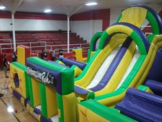 Our Adrenaline Rush is a great obstacle course for your back-to-school event! It is a huge hit with the kids! www.jumpinjiminyinc.com