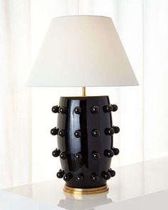 H7QUW Kelly Wearstler Linden Black Table Lamp