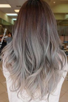 Are you looking for ombre hair color for grey silver? See our collection full of ombre hair color for grey silver and get inspired! Grey Ombre Hair, Silver Grey Hair, Brown Grey Ombre, Ash Brown, Ash Gray Hair Color, Grey Brown Hair, Black Hair, Ombré Hair, Hair Dos