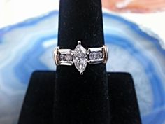 14kt Yellow and White Gold Marquise Diamond by LakeinsJewelers