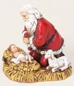 Joseph's Studio Kneeling Santa with Baby Jesus Christmas Ornament * You can get more details by clicking on the image.