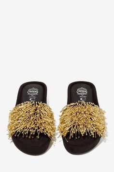 Jeffrey Campbell Zorba Beaded Suede Slide
