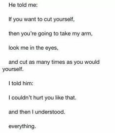 I wish I had someone who cared for me like that..but I dont..Im alone..