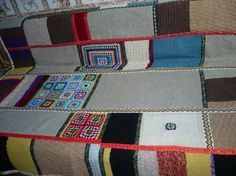 Patchwork crochet blanket