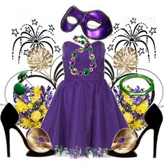 Mardi Gras! - Party outfit for Mardi Gras (What to wear - Mardi Gras)