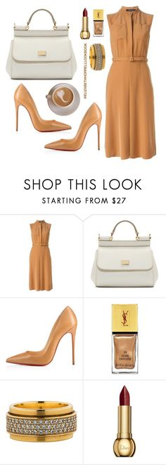"""LIZ"" by elizabethhorrell ❤ liked on Polyvore featuring Gucci, Dolce&Gabbana, Christian Louboutin, Yves Saint Laurent, Piaget and Christian Dior"
