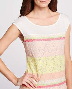 Painted Lace Tee | Ann Taylor