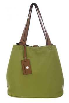 Bags :: MAISON Reversible Shopper in Pistachio & Black - The Redletter Club $120