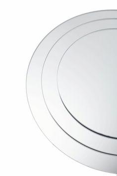 "Centerpiece Mirrors - 6 Pcs - Round Bevel Edged Glass 13"""