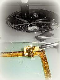Foto Mit Blattgold, wird der Rahmen belegt,