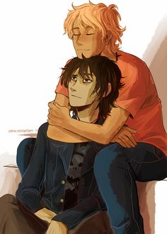 """Nico di Angelo and Will Solace. Both of their looks are amazing like,""""I can't…"""