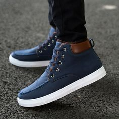 #Fashionable Men's Casual #Winter & Autumn Boots With Plush