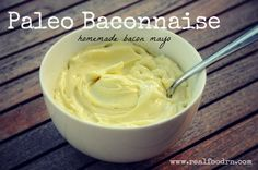 Paleo Baconnaise. A delicious homemade mayo that is not only delicious, but it is also way healthier than anything you can buy at the store. @realfoodrn