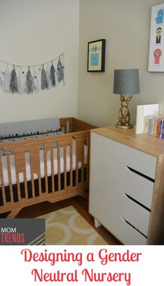 love the carpet in this room! Designing a Gender Neutral Nursery | MomTrends