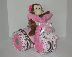 Motorcycle baby shower gift! So creative.