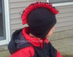 Mohawk Hat with Ear Flaps - Tutorial and Printable Pattern!