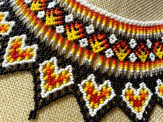 ★ MATERIALS ★ Necklace is made with Czech Glass Beads and strong nylon thread. ★ MEASUREMENT ★ inches- chain Width= All my creations are handmade in a smoke free home. Bead Loom Patterns, Beading Patterns, Beaded Jewelry, Beaded Necklace, Native American Beadwork, Loom Beading, Czech Glass Beads, Bracelet Designs, Creations