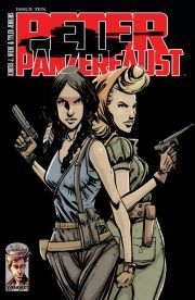 """Peter Panzerfaust #10    The aftermath of a dangerous rescue mission leaves the group fractured and forever changes the face of their war.    """"Both magical and adventurous without needing the aid of pixie dust or giant crocodiles (not saying that throwing in the croc wouldn't be awesome though). PETER PANZERFAUST is a title that you should be checking into every month and I'm giving this issue 4 out of 5 stars."""" -- Major Spoilers"""